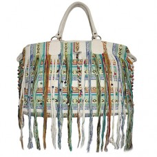 Fringed summer green Shoulders Bag