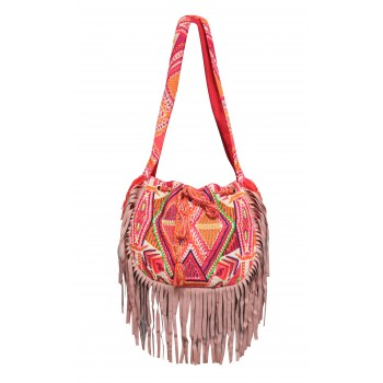 Embellished Fringed Bag