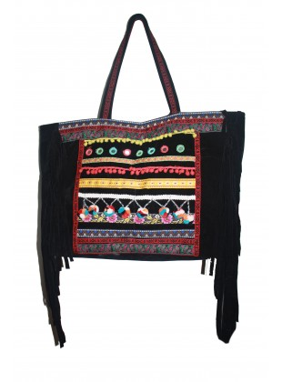 Multicolor lace embellished bag