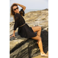 Dress with shiffly inserted top