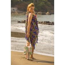 Blue Aztec Print Kimono