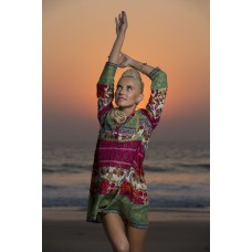 Border paisely cotton tunic