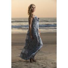Polycrape long dress