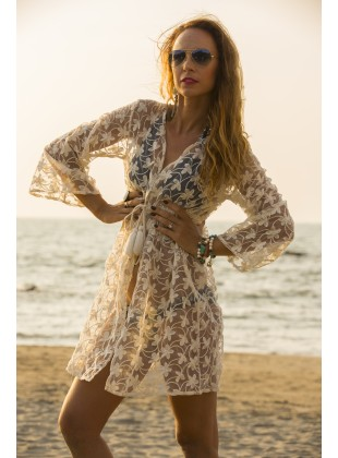 Net floral cover up
