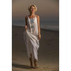 Maxi dress with net fabric on bottom