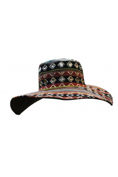 Embellished Durrie Hat