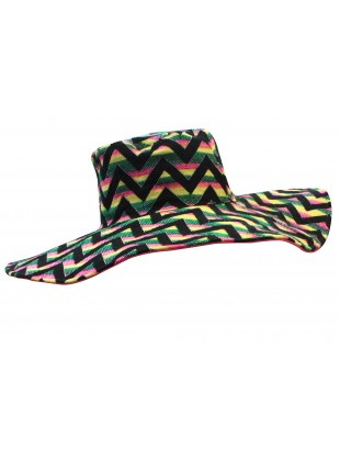 Chevron pattern jacquard hat