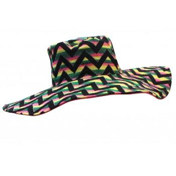 Chevron pattern jacquard hat