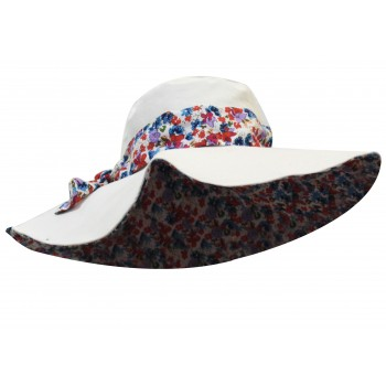 Floral bow hat