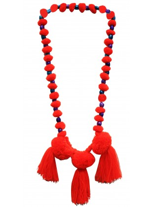 Bright blush neckpiece