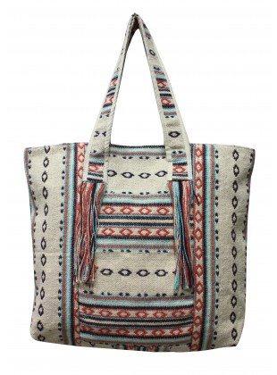 Fringed Dhurrie bag