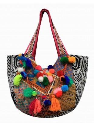 Bright tassel work bag